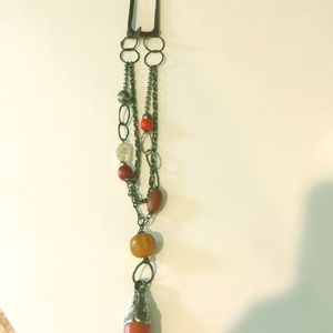 Necklace with Autumn Colored Stones